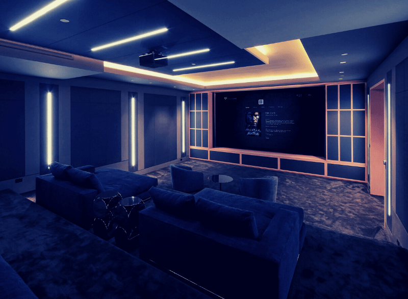 Control4 bespoke home cinema